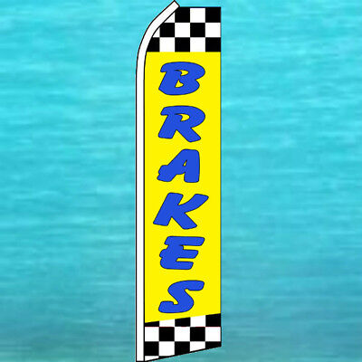 Brakes Flutter Flag Tall Auto Repair Advertising Sign Feather Swooper Banner