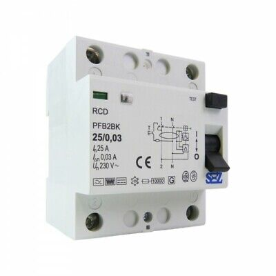 Sez Fi Switch 25a 30ma 2p 10ka Type B Rcd Rccb Fi Protection Switch 8842