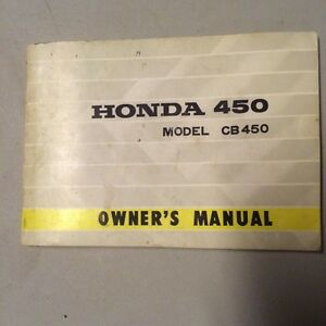 1971 Honda CB450 Owners Manual
