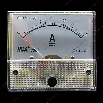 Dc 15a Analog Ammeter Panel Amp Current Meter 85c1 0-15a Dc Doesnt Need Shunt