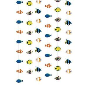 Coral Reef Tropical Fish Hanging Decorations Under the Sea Birthday Party