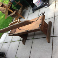 Antique carriage seat bench