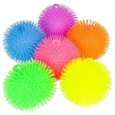6'' PUFFER BALL ( 1 Random Color Per Order ) Pon Pon Stress Ball Tactile Sensory Puffer Ball Toy