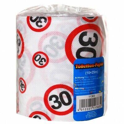 Toilettenpapier 30 Jahre Geschenk für den Geburtstag Länge 25m Klopapier (0.40€/