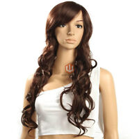 brand new wig brown curly heat resistant
