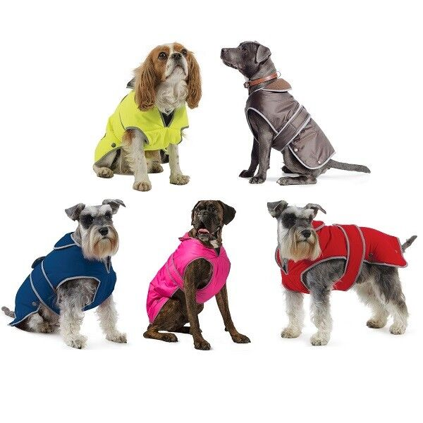 Ancol Muddy Paws Jacket Waterproof Warm Dog Coat All Weather Puppy Coats 17