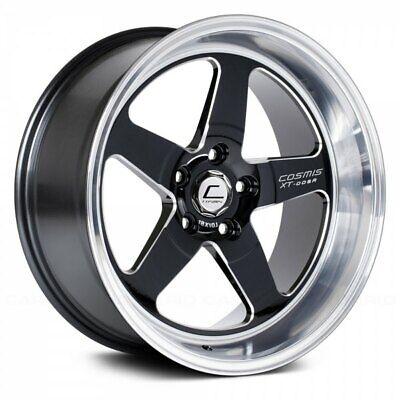 Cosmis Racing XT-005R 18x10 +20mm 5x120 Black w/ Machined Lip Rim Wheel