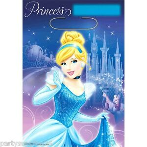 CINDERELLA-PARTY-SUPPLIES-LOOT-BAGS-LOLLY-BAGS-PACK-OF-8