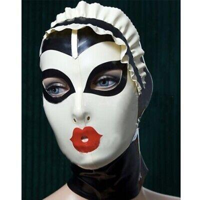 Zipper Mouth Halloween (Latex Hood Rubber Gummi Freak Mouth Crown Halloween Masks Rear Zip Customized)