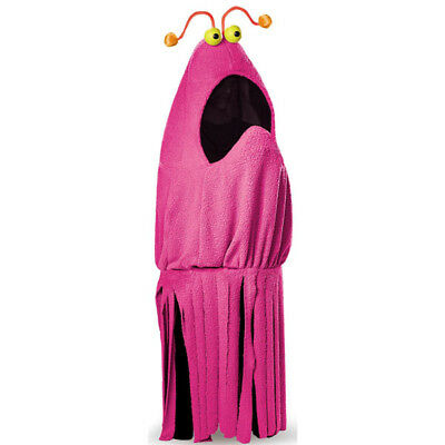 Sesame Street Costumes Adult (Sesame Street Magenta Yip Yip Adult Costume with Attached Eyes |)