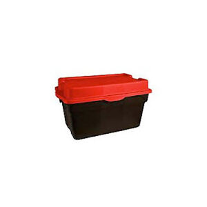 FIVE Heavy Duty Hinged Storage Totes, 132-L