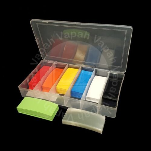 280 Pieces PVC Heat Shrinkable Tubes for Li-ion 18650 Battery 8 Colors Wrap Kit