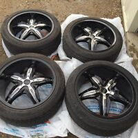 """20"""" rims and tires (5x114.3/120)"""