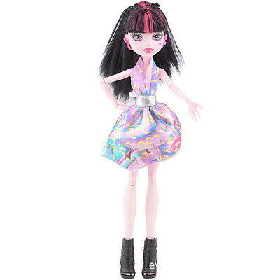 Doll accessories Doll Clothes color dress Set For monster high school doll v10