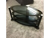 """Glass Oval TV stand for 32 to 50"""" tv"""