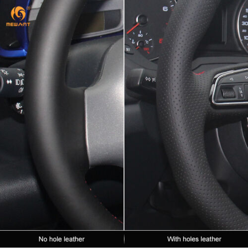 Couro preto durável Volante Capa Para Toyota Prius 2005-2008 #0426