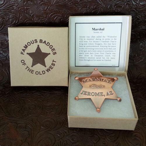 Marshall Jerome Arizona Badge Old West Replica