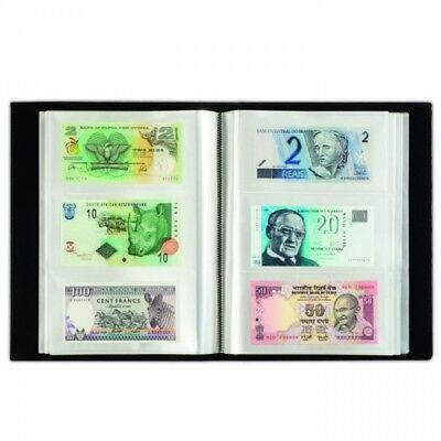 Album für 300 Banknoten, schwarz, mit 100 eingebundenen Klarsichthüllen
