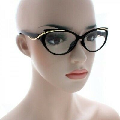 Women CLASSIC VINTAGE 50s RETRO CAT EYE Style Clear Lens EYE GLASSES Small (Women's Glass Frames Styles)