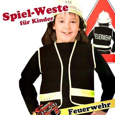 Spielweste Feuerwehr, mit Aufdruck, Gr. 116, für - Spieler Kostüm Weste