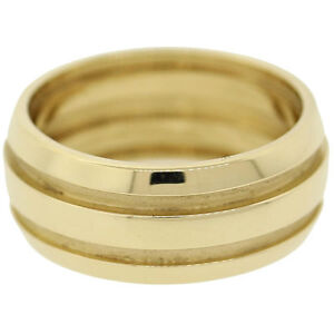Tiffany-Co-ATLAS-WIDE-GROOVE-Three-Rows-Wedding-Band-Ring-18k-Yellow ...