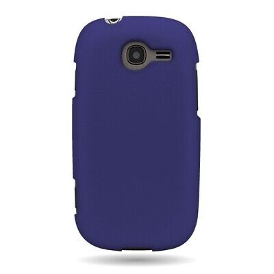 Hard Rubberized Plastic Matte Blue Phone Cover Case for Samsung Gravity Q -