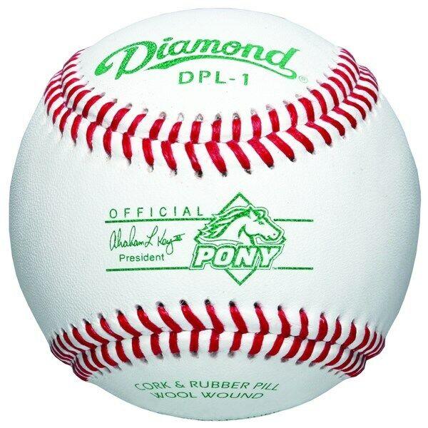 2 Dozen Diamond Official PONY League Approved Baseballs