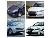 No Deposit Uber pco cars hire rent 120 toyota prius honda insight Skoda octavia superb passat 2012