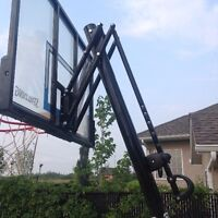 "Spalding 50"" portable basketball system"