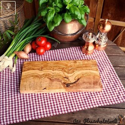 2. Wahl Olivenholz Holz Schneidebrett Frühstücksbrett Kräuterbrett Brotzeit 25cm