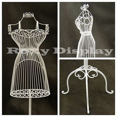 Female Metal Wire Form With Antique Metal Base Ty-xy140075w