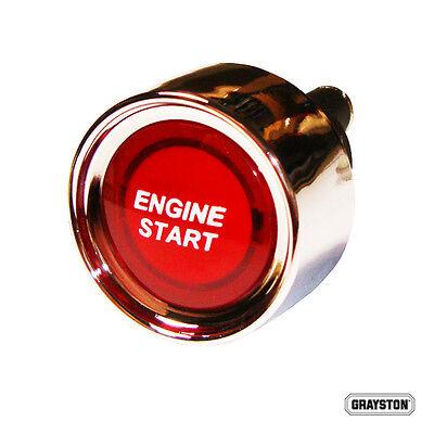 Push Button Red Illuminated 12v Starter Switch Engine Start Motorsport