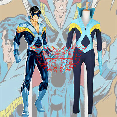 New Young Justice Nightwing blue uniform Cosplay Costume full set Free Shipping ](Nightwing New Costume)