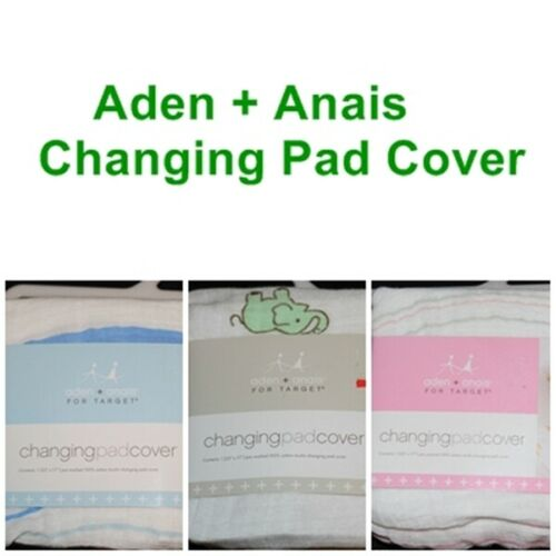 Aden + Anais for Target Changing Pad Cover Cotton blue pink green elephants