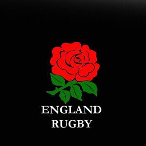 ENGLAND RUGBY ROSE CAR VINYL STICKER, DECAL , Bumper Or Window, Ipad, Laptop