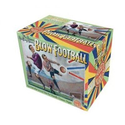 BLOW FOOTBALL - 002093 TRADITIONAL FUN SOCCER BALL STRAW BLOWING KIDS FUN GAME - Cardboard Soccer Ball