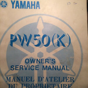 1982 Yamaha Factory PW50K Owners Service Manual Regina Regina Area image 1