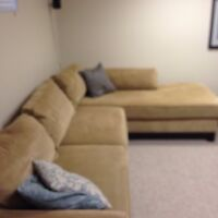 LAZBOY sofa with chaise lounge