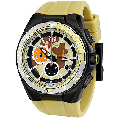 TECHNOMARINE SPORT CHRONOGRAPH DATE SAND CAMOUFLAGE DIAL MEN'S WATCH 110072 NEW ()
