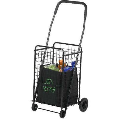 Shopping Cart Grocery Basket 4 Wheel Utility Cart Medium Folding Honey Can Do