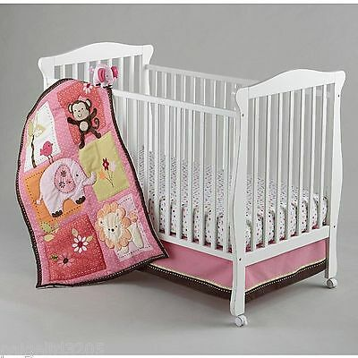 Little Bedding by NoJo  Newborn Girl's Raspberry Jungle 4-Piece Bedding Set  ()