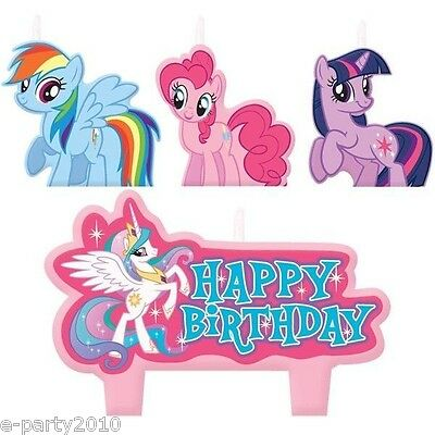MY LITTLE PONY FRIENDSHIP IS MAGIC CANDLE SET (4pc) ~ Birthday Party - Pony Candles