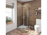 Quadrant Shower Enclosure 6mm (800mm x 800mm) - New and Boxed