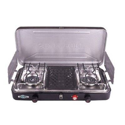 Stansport Outfitter Series 2-Burner and Grill Propane Sto W