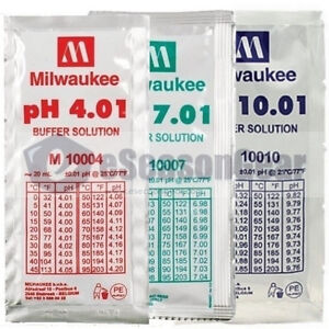 pH 4 + 7 + 10 Buffer Calibration Solution, 20ml/each Milwaukee pH4 pH7 pH10 pack