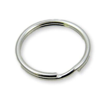Steel Keyring Split Key Rings 25mm Double Loop -  Nickel Plate - 50pcs