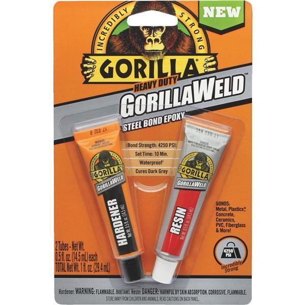 heavy duty gorillaweld steel bond 2-part epoxy