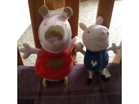 Talking peppa and george