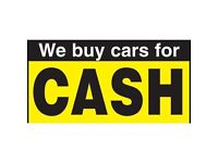 WE BUY ANY CAR, BIKE OR VAN FOR CASH!!! Even if it is not running, damaged, faulty GIVE US A TRY!!