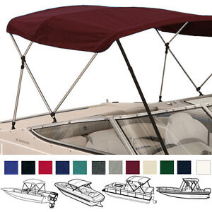 BOAT-BIMINI-TOP-COVER-3-BOW-72-L-54-H-67-72-W-W-BOOT-REAR-SUPPORT-POLES